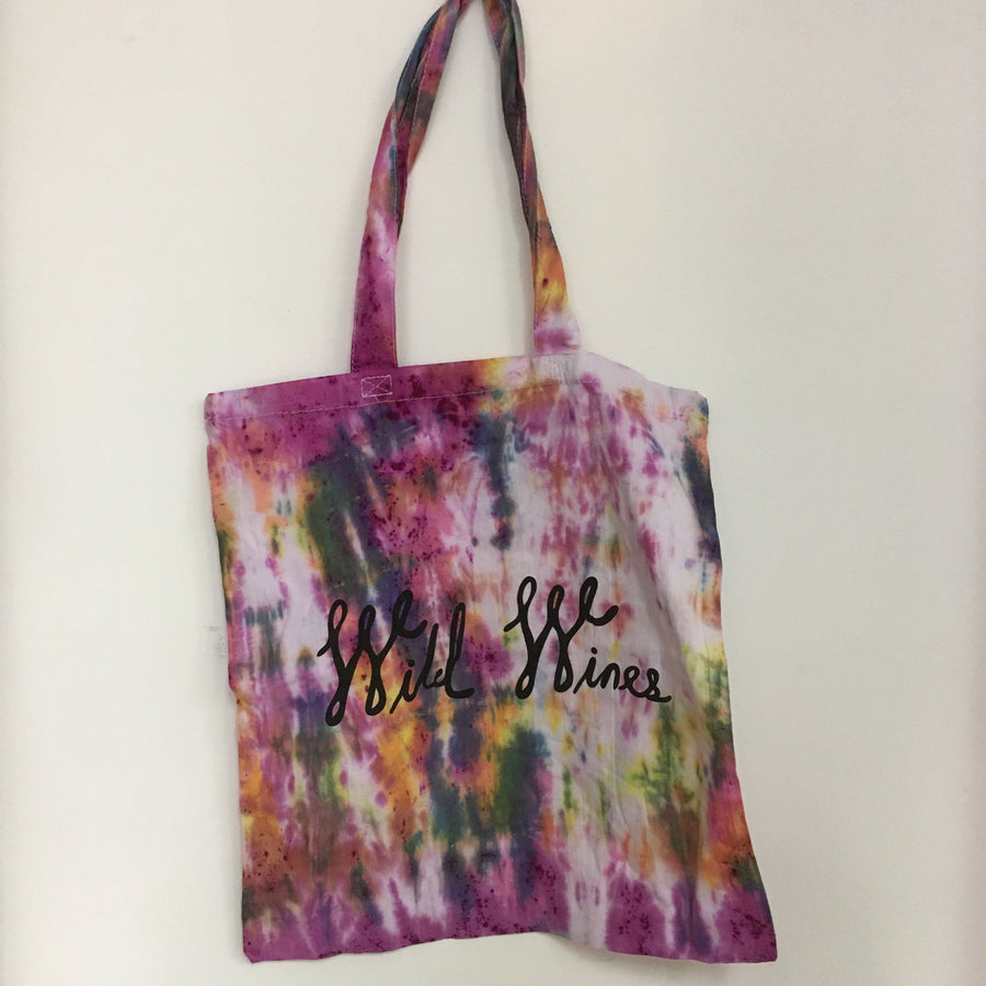 Wild Wines Shopping Tote - Tie Dye #12