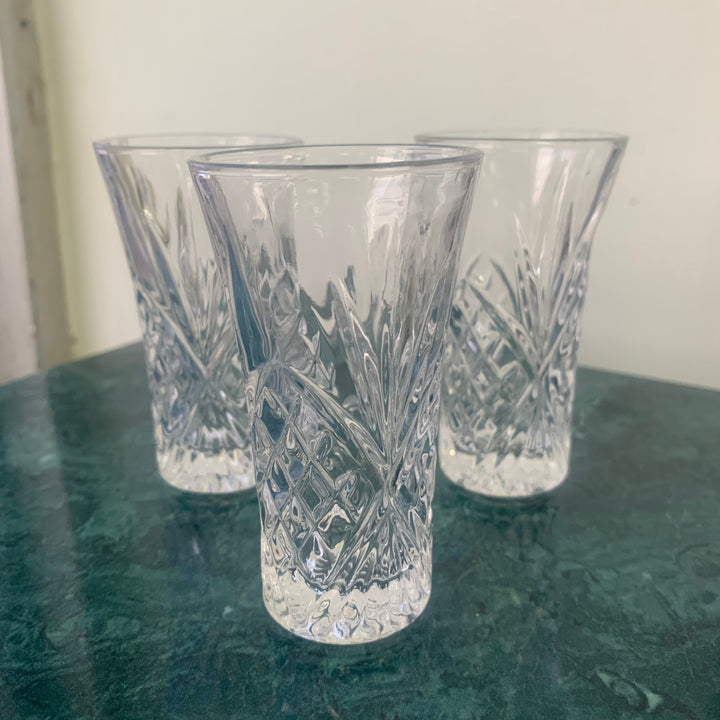 3 glass shot glasses