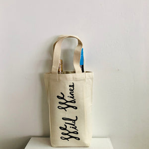 Wild Wines 2 bottle Tote -Black Logo