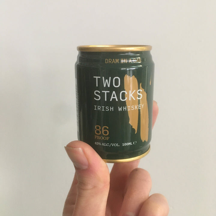 'Dram In a Can' Two Stacks Irish Whiskey 100ml