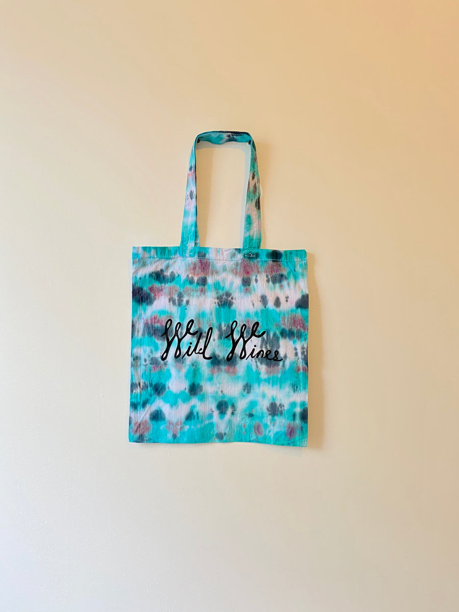 Wild Wines Shopping Tote -TIE DYE #10