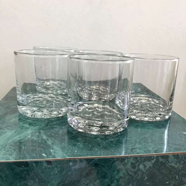 Set of 5 Vintage Whiskey Glasses