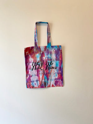 Wild Wines Shopping Tote -TIE DYE #2
