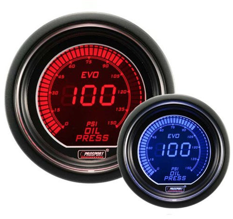 Prosport EVO Digital Oil Pressure Gauge