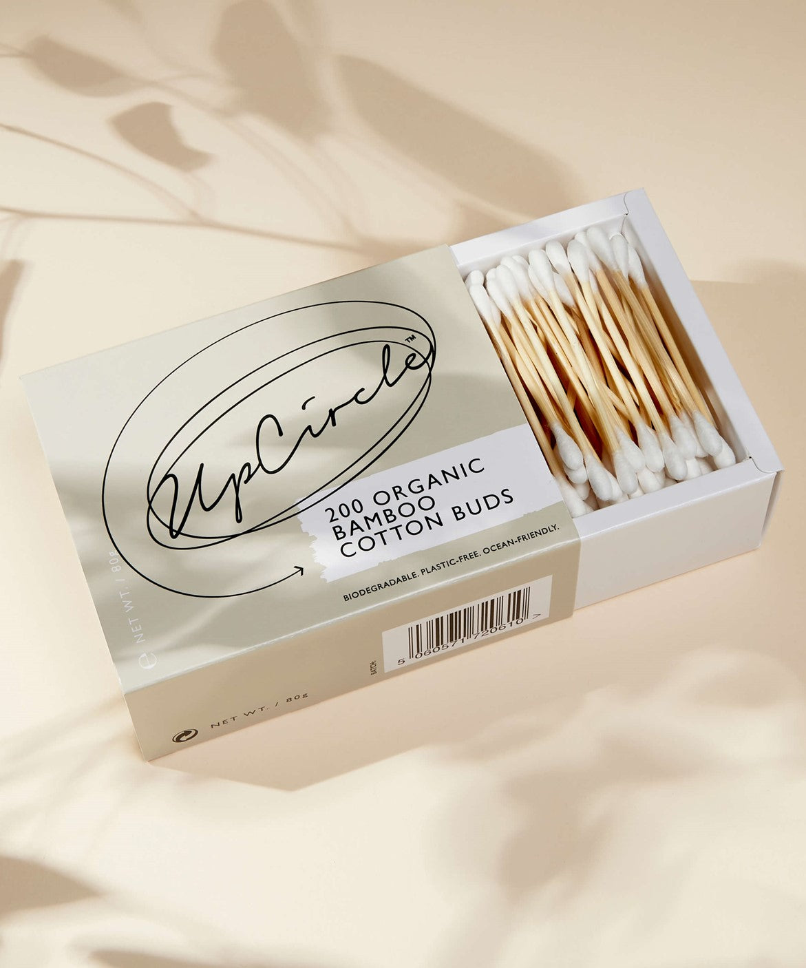 Organic Bamboo Cotton Buds - 200 Pieces