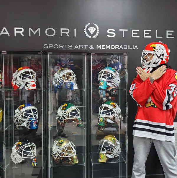 ULTIMATE ED BELFOUR GOALIE MASK COLLECTION | GAME WORN USED - GAME READY & SIGNED TRIBUTE MASKS BY GOALIE MASK COLLECTOR