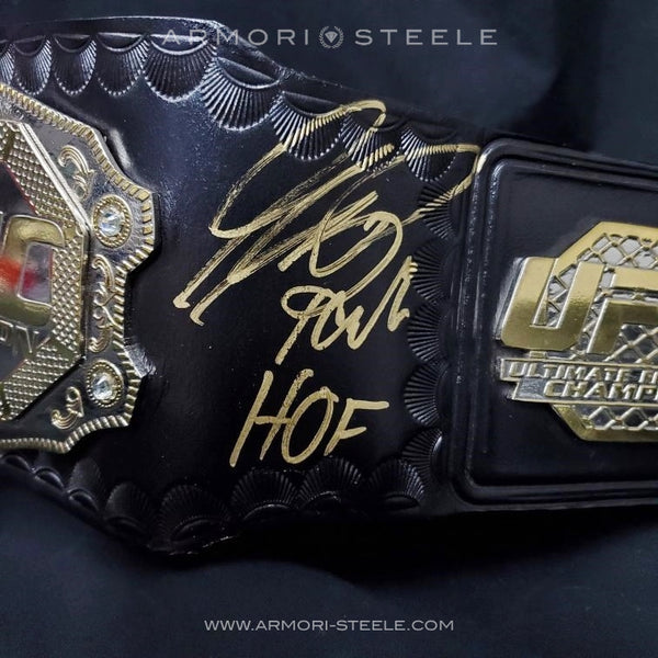GSP GEORGES ST-PIERRE SIGNED BELT & GI AUTOGRAPHED EXCLUSIVE by ARMORI STEELE