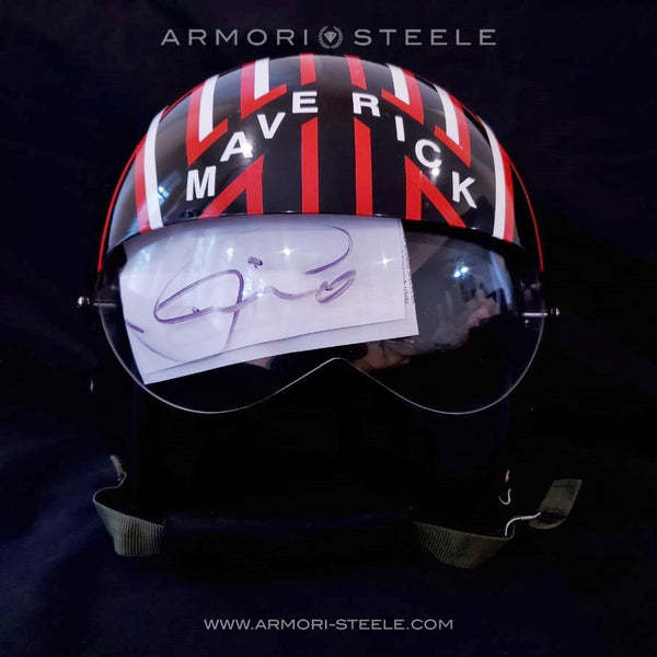 SOLD: Ultra Rare TOM CRUISE Autographed TOP GUN MAVERICK pilot helmet!