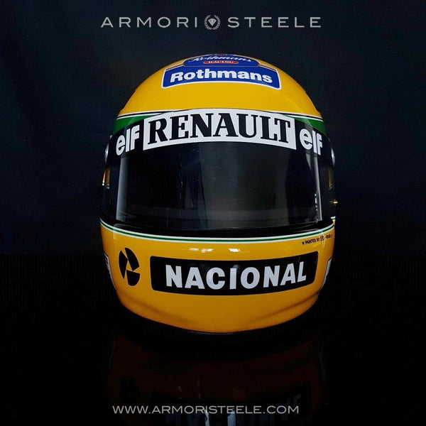 AYRTON SENNA DISPLAY HELMET PAINTED BY SID MOSCA - 1994- ORIGINAL PAINTER  LE 107/1000 - SOLD