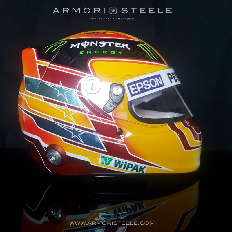 LEWIS HAMILTON 2017 SIGNED AUTOGRAPHED F1 HELMET FULL SIZE 1/1 SCALE DISPLAY HELMET - SOLD