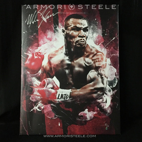 """MIKE TYSON"" SIGNED AUTOGRAPHED SPORTS ART CANVAS BY ARTIST MATTHEW SHARPE - LIMITED EDITION OF 10 (24 X 32"")"
