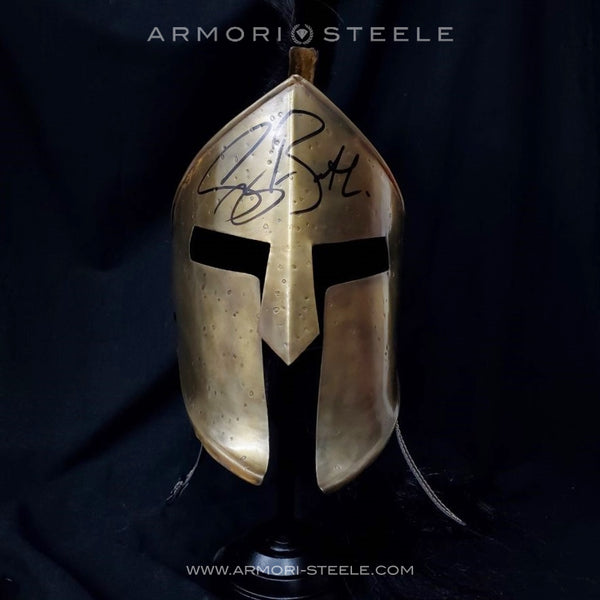 """300"" SPARTAN HELMET SIGNED BY GERARD BUTLER PREMIUM EDITION AUTOGRAPHED FULL SCALE"