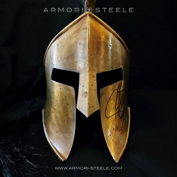 """300"" SPARTAN HELMET SIGNED BY GERARD BUTLER PREMIUM EDITION AUTOGRAPHED FULL SCALE - SOLD"