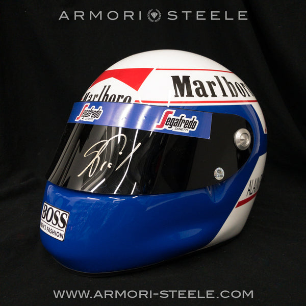 ALAIN PROST 1985 SIGNED AUTOGRAPHED F1 HELMET DISPLAY EDITION - GOLD AUTOGRAPH