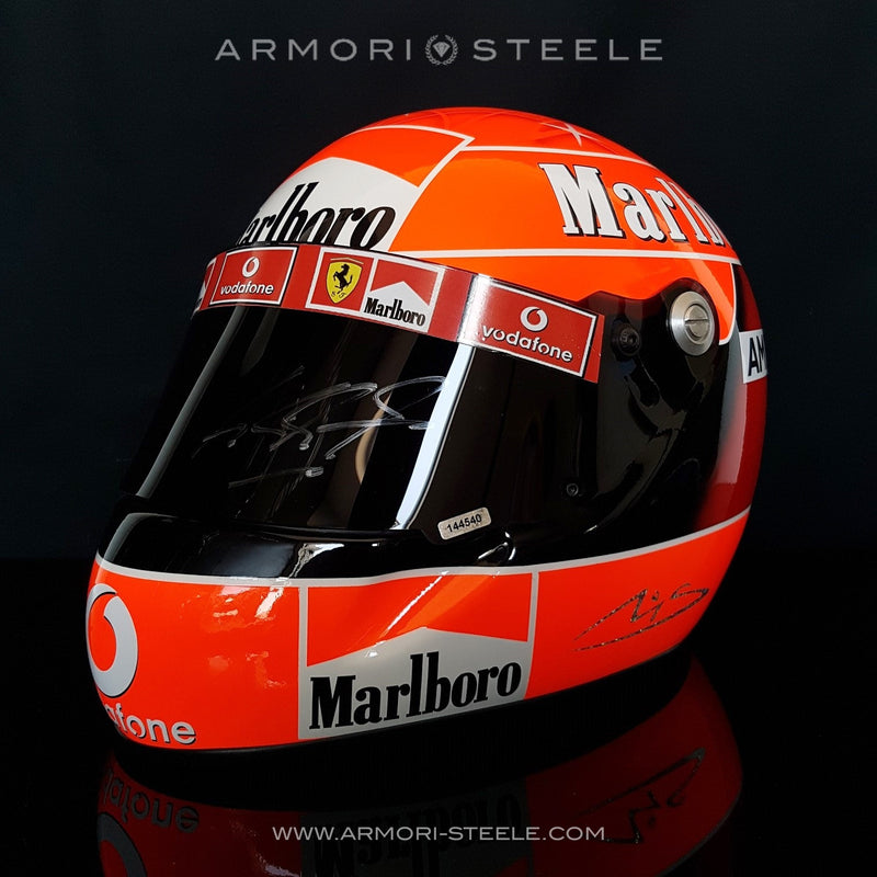 MICHAEL SCHUMACHER SIGNED RACING HELMET F1 2004 FERRARI - SOLD