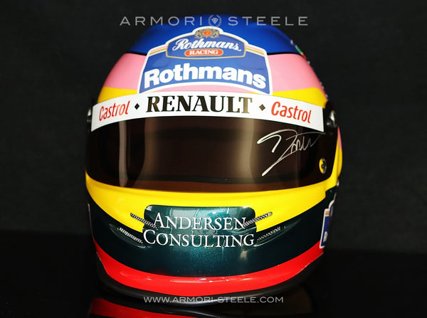 JACQUES VILLENEUVE SIGNED RACING DISPLAY HELMET F1 1995 WILLIAMS RENAULT - SOLD