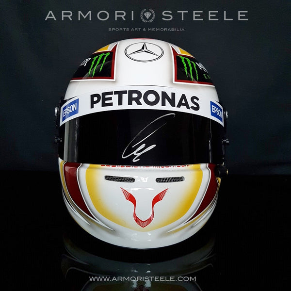 LEWIS HAMILTON 2015 SIGNED AUTOGRAPHED HELMET F1 DISPLAY EDITION - SOLD