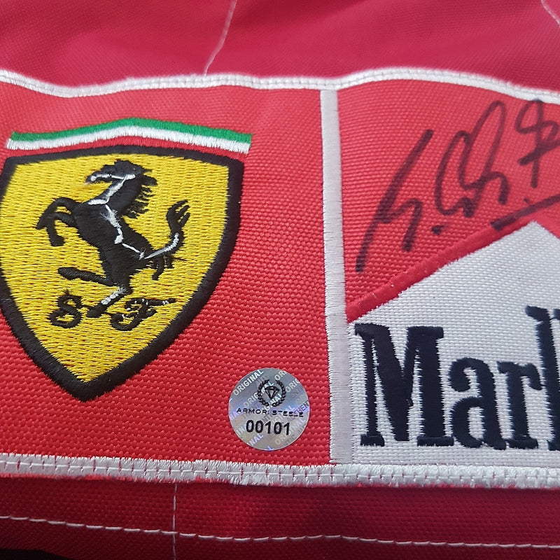 MICHAEL SCHUMACHER SIGNED RACING SUIT 2004 FERRARI  (FRAMING OPTIONAL) - SOLD OUT
