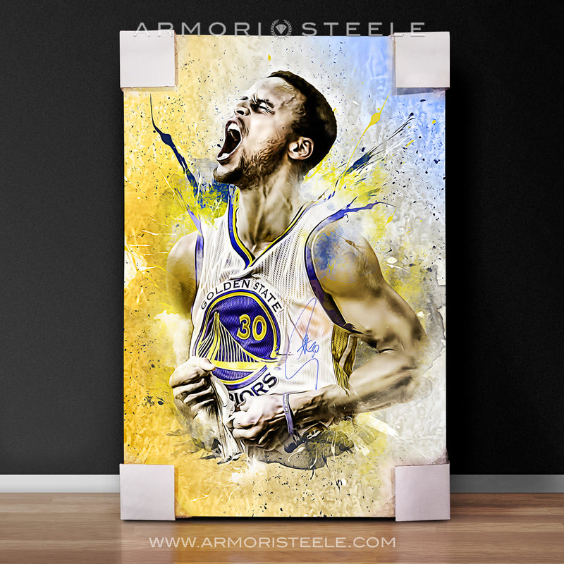 """EMBOLDEN"" STEPHEN CURRY WARRIORS SIGNED SPORTS ART CANVAS - ARTIST PRINT LIMITED EDITION - 1/1  XL (30 X 40"")"