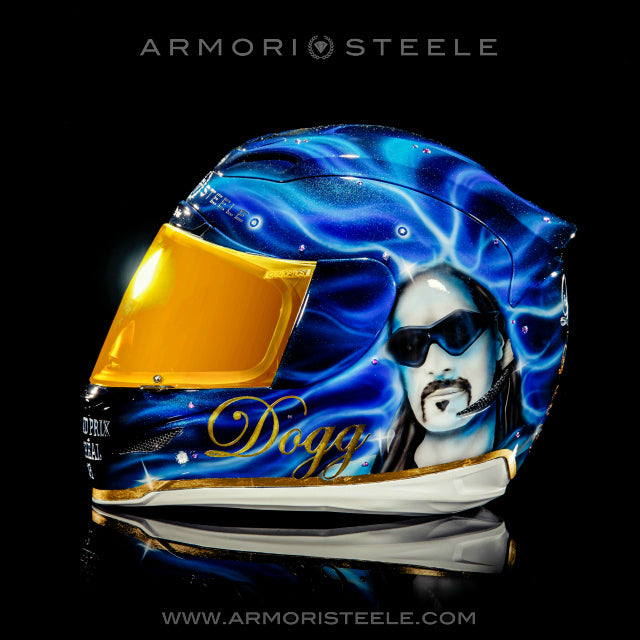 SNOOP DOGG SIGNED LBC F1 GRAND PRIX HELMET (1 OF 1 EDITION) -SOLD