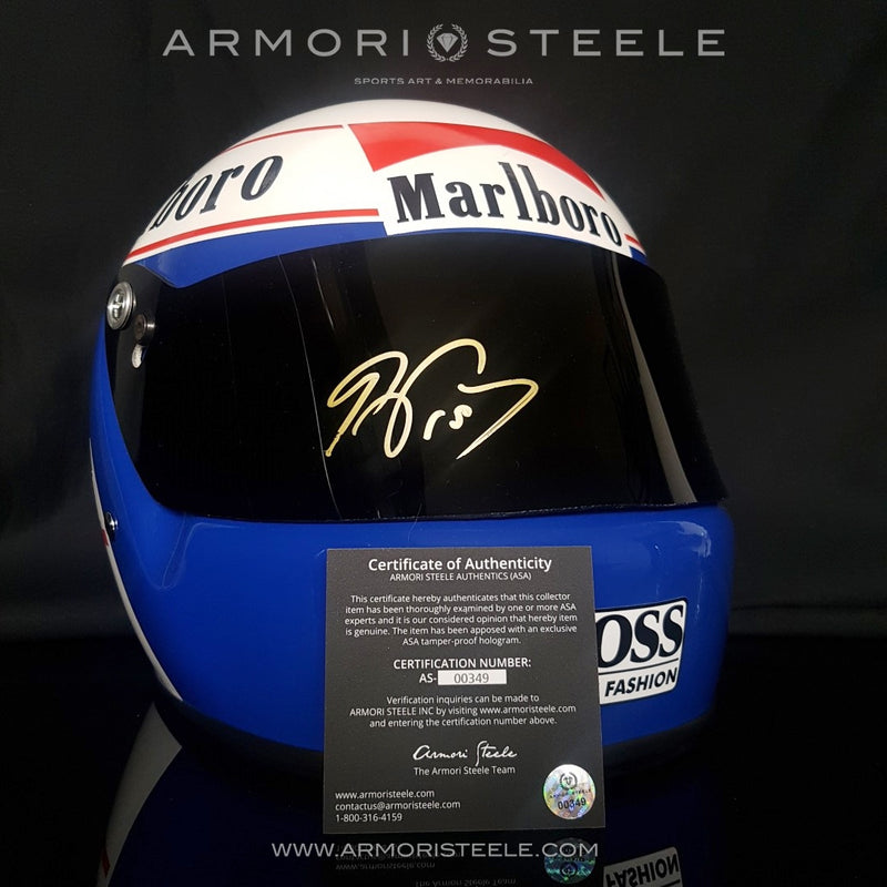 ALAIN PROST 1985 SIGNED AUTOGRAPHED F1 HELMET DISPLAY EDITION - SOLD