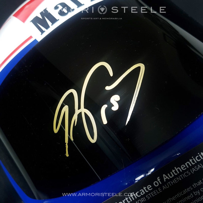 ALAIN PROST 1985 SIGNED AUTOGRAPHED F1 HELMET DISPLAY EDITION - GOLD AUTOGRAPH - SOLD