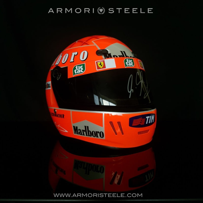MICHAEL SCHUMACHER SIGNED RACING DISPLAY HELMET F1 2001 FERRARI - SOLD