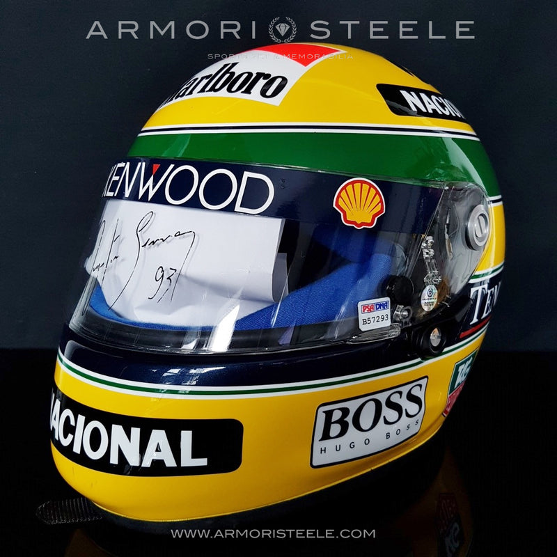 AYRTON SENNA 1993 SIGNED AUTOGRAPHED HELMET SHOEI X4 F1 - BLACK INK - PSA CERTIFIED - RACE READY EDITION - SOLD