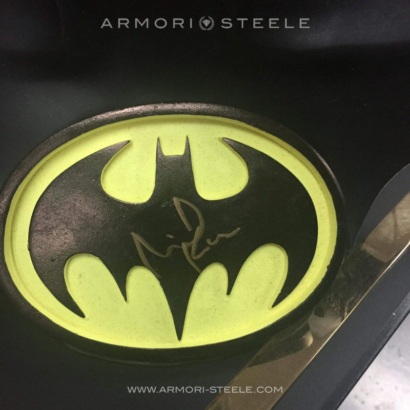 BATMAN COWL SIGNED MICHAEL KEATON AUTOGRAPHED PREMIUM LIMITED AS EDITION OF 10
