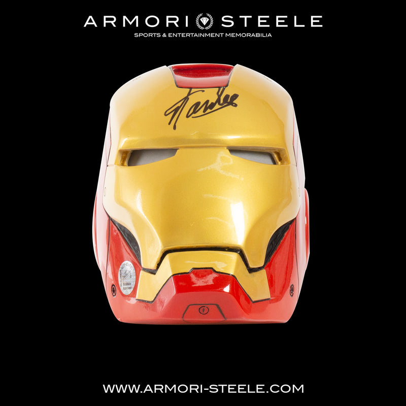 IRON MAN HELMET SIGNED BY STAN LEE STANDARD EDITION 3:4 SCALE