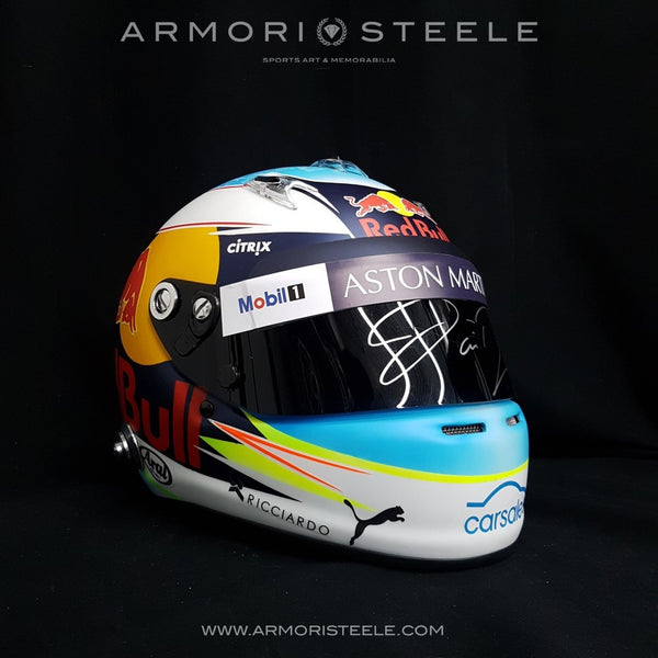 DANIEL RICCIARDO 2018 SIGNED AUTOGRAPHED HELMET F1  1:1 FULL SCALE DISPLAY EDITION - SOLD