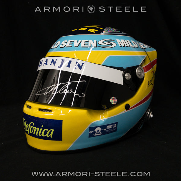 FERNANDO ALONSO SIGNED HELMET 2006 DISPLAY F1 FULL SCALE 1:1