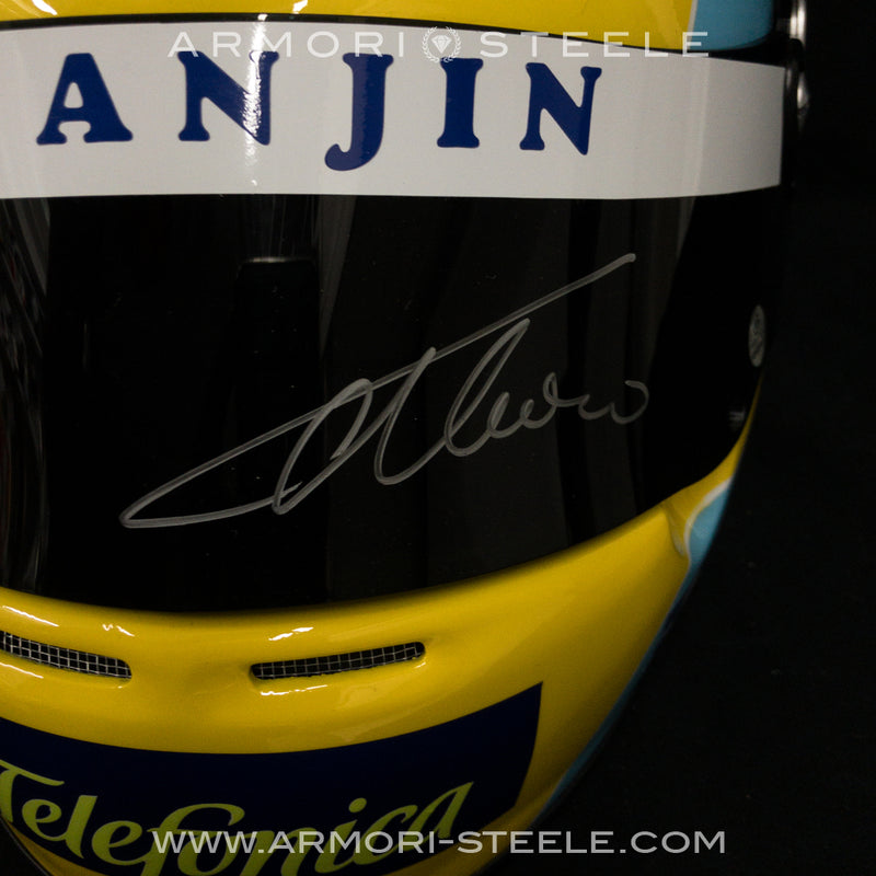 FERNANDO ALONSO SIGNED HELMET 2006 DISPLAY F1 FULL SCALE 1:1-SOLD