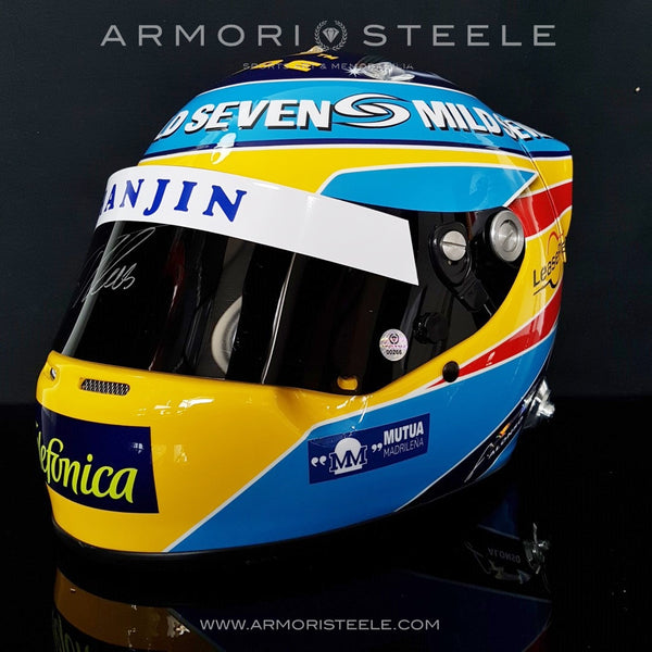 FERNANDO ALONSO 2006 SIGNED AUTOGRAPHED DISPLAY HELMET F1 RACING - SOLD