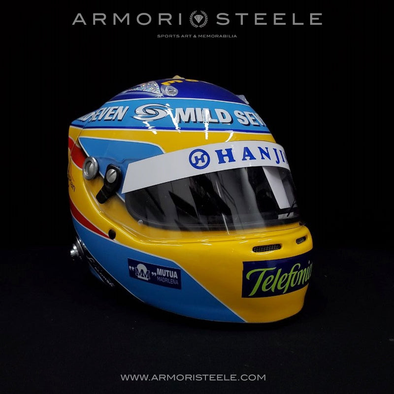 FERNANDO ALONSO 2006 SIGNED AUTOGRAPHED F1 HELMET FULL SIZE 1/1 SCALE DISPLAY HELMET
