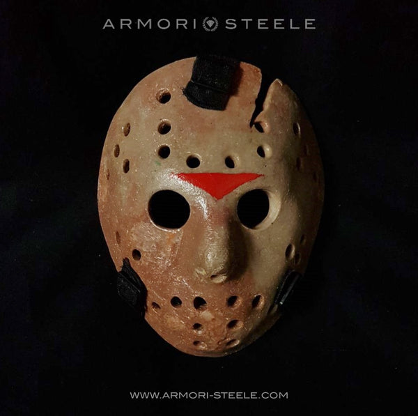 RESERVATION SALE: FRIDAY THE 13TH JASON VOORHEES MASK HELMET UNSIGNED PREMIUM QUALITY FULL SCALE 1:1