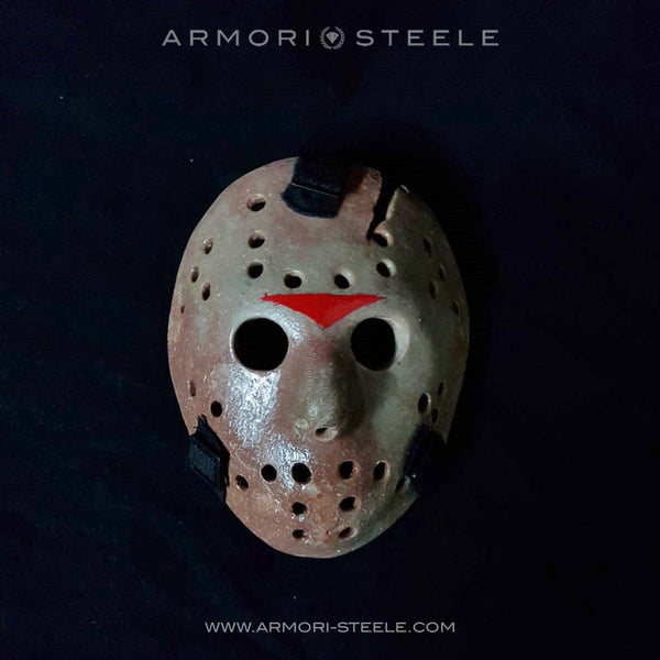FRIDAY THE 13TH JASON VOORHEES MASK HELMET UNSIGNED PREMIUM QUALITY FULL SCALE 1:1
