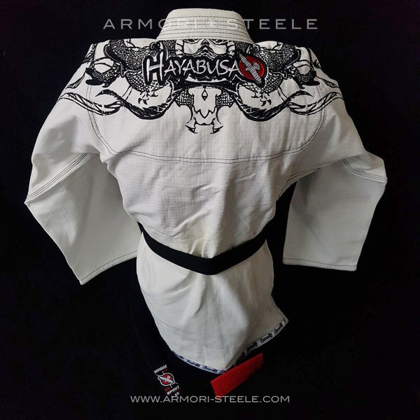 PRE-SALE: GEORGES ST-PIERRE GSP SIGNED HAYABUSA GI JIU-JITSU KARATE UNIFORM KIMONO + BLACK BELT + HEAD BAND KIT