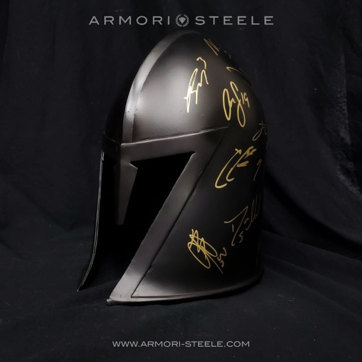 LAS VEGAS GOLDEN KNIGHTS HELMET SIGNED BY ENTIRE TEAM 2018-19 PREMIUM EDITION AUTOGRAPHED FULL SCALE