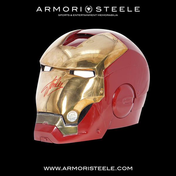 IRON MAN HELMET SIGNED BY STAN LEE WINDLASS PREMIUM- SOLD