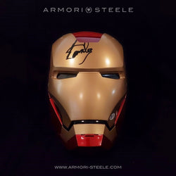 IRON MAN HELMET SIGNED BY STAN LEE STANDARD EDITION FULL SCALE 1:1