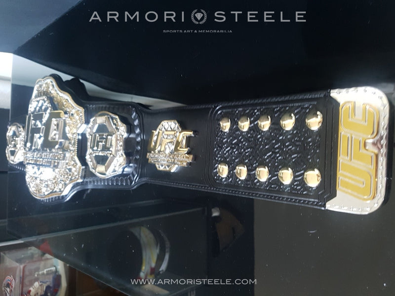 UFC CHAMPIONSHIP BELT SIGNED AUTOGRAPHED BY MICHAEL BISPING - 5 LBS - 10K GOLD PLATED - SOLD OUT
