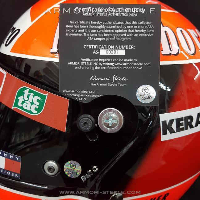 Michael Schumacher 2004 Direct signed on Helmet Ferrari Tribute 1:1 Full Scale