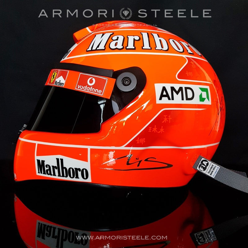 MICHAEL SCHUMACHER 2004 SIGNED AUTOGRAPHED HELMET - SIGNATURE ON HELMET - F1 DISPLAY EDITION - SOLD