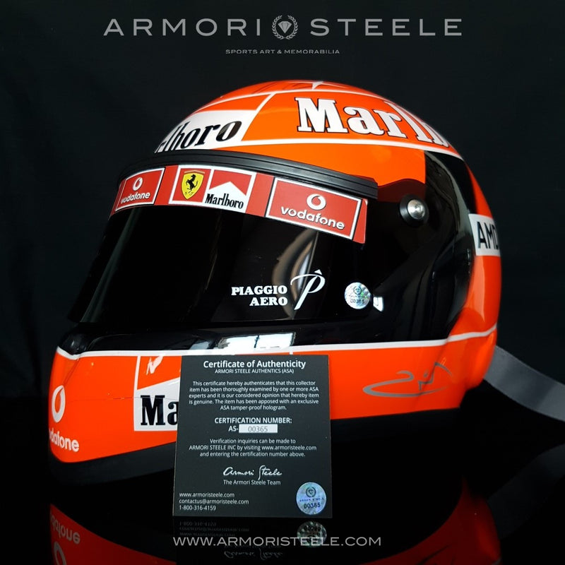 MICHAEL SCHUMACHER 2004 SIGNED HELMET DISPLAY F1 FULL SCALE 1:1 (A1) - SOLD