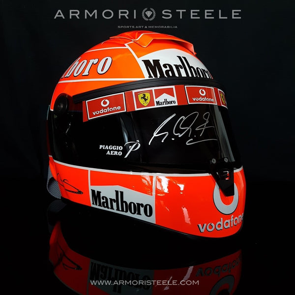 MICHAEL SCHUMACHER 2004 SIGNED AUTOGRAPHED DISPLAY F1 HELMET (A2)