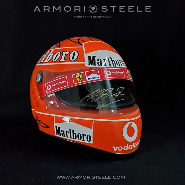 MICHAEL SCHUMACHER 2004 SIGNED AUTOGRAPHED DISPLAY F1 HELMET 1:1 FULL SCALE DISPLAY MALAYSIA