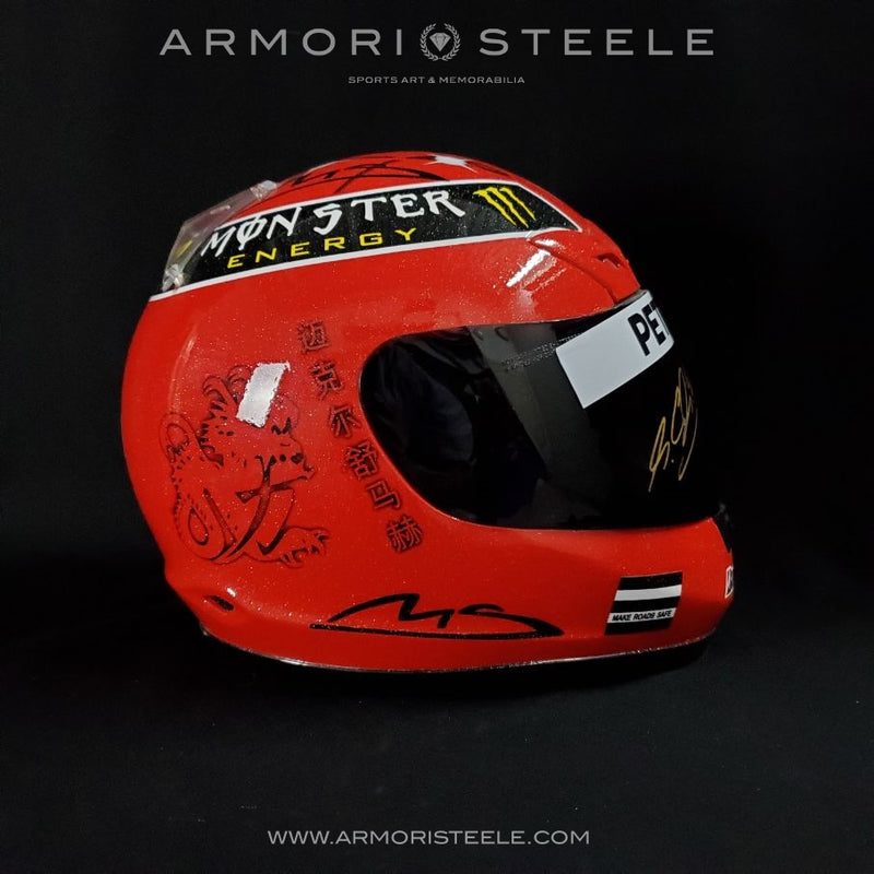 MICHAEL SCHUMACHER SIGNED HELMET 2011 MERCEDES F1 AUTOGRAPHED DISPLAY FULL SCALE 1:1