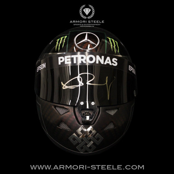 NICO ROSBERG SIGNED HELMET VISOR 2016 MERCEDES TRIBUTE AUTOGRAPHED FULL SCALE 1:1