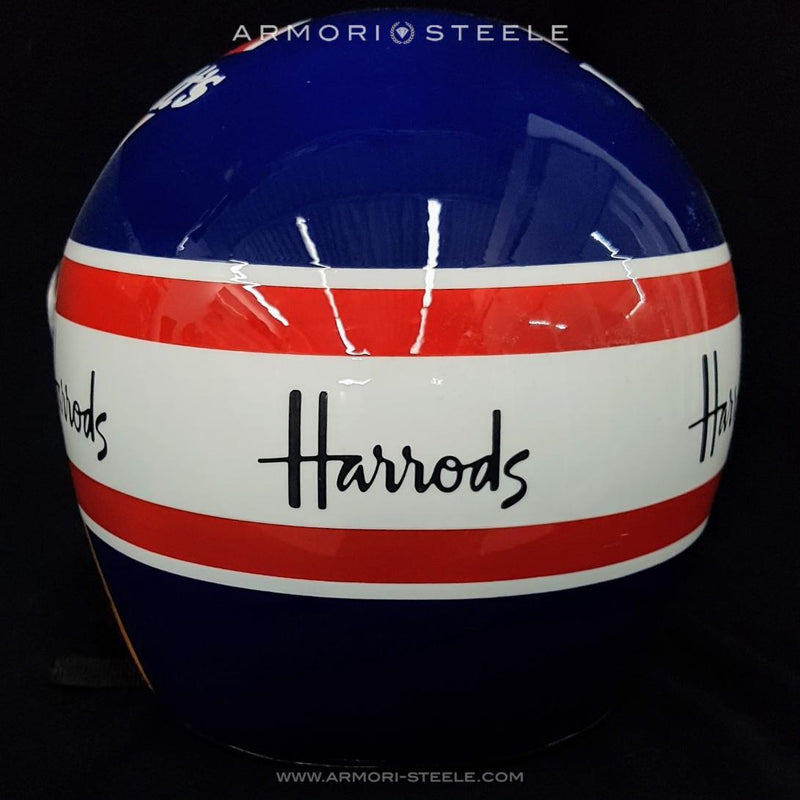 Nigel Mansell 1992 Signed Williams Tribute F1 Helmet V2 Subpar Autograph Helmet Full Scale 1:1